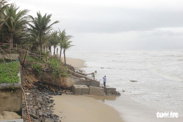 Bờ biển du lịch Đà Nẵng tiếp tục sạt lở nặng - Ảnh 3.