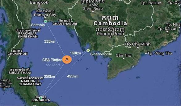 Campuchia khai thác mỏ dầu ở vùng biển gần Việt Nam - Ảnh 1.
