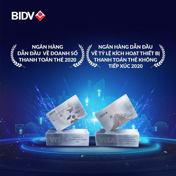 Thanh toán thẻ BIDV được VISA trao hai giải thưởng - Ảnh 1.