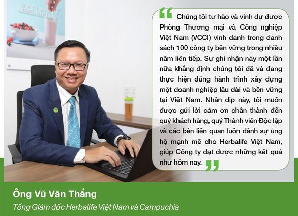 Herbalife Việt Nam tiếp tục được VCCI vinh danh Doanh nghiệp Bền vững 2020 - Ảnh 2.
