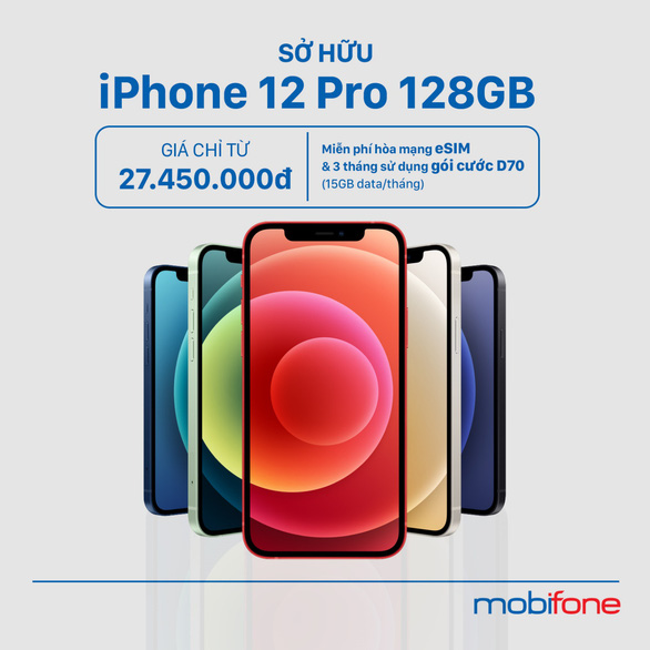 Tậu iPhone 12, xài mạng 5G, kèm cực nhiều ưu đãi khủng từ MobiFone - Ảnh 2.