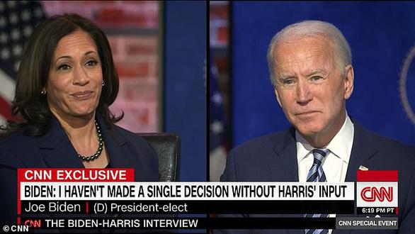 Ông Biden nói sẽ từ chức nếu bất đồng sâu sắc với phó tướng Kamala Harris - Ảnh 1.
