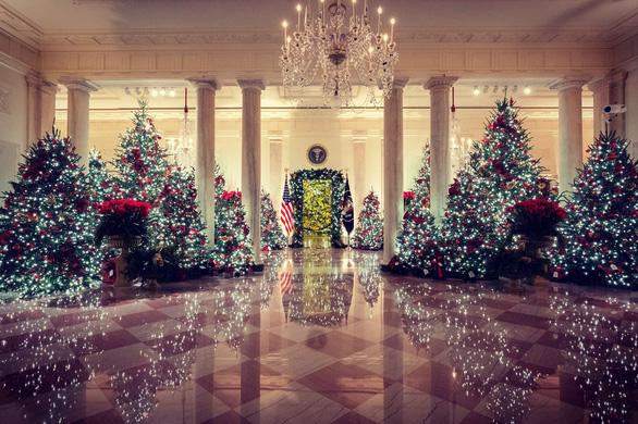 Vợ chồng ông Trump dự lễ lên đèn Giáng sinh tại Nhà Trắng - Ảnh 5.