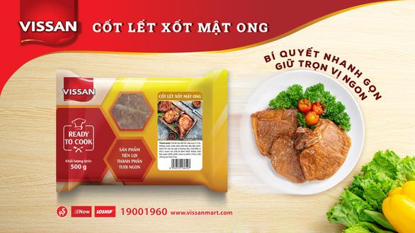 Bữa ăn dinh dưỡng và tiện lợi hơn với thịt heo ướp gia vị Vissan - Ảnh 2.
