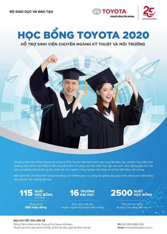 Học bổng kỹ thuật Toyota tiếp sức sinh viên chinh phục ước mơ - Ảnh 1.