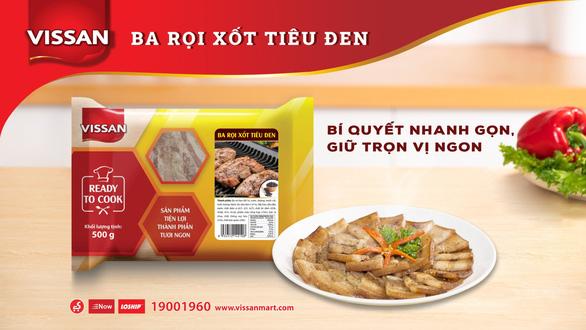 Bữa ăn dinh dưỡng và tiện lợi hơn với thịt heo ướp gia vị Vissan - Ảnh 3.