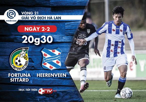 Lịch thi đấu CLB Heerenveen của Văn Hậu ngày 2-2 - Ảnh 1.