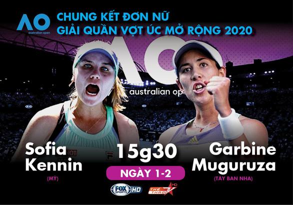 Lịch trực tiếp chung kết đơn nữ Giải quần vợt Úc mở rộng 2020 - Ảnh 1.