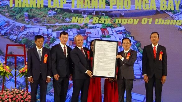 Hậu Giang công bố thành lập thành phố Ngã Bảy - Ảnh 1.