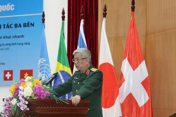 20 quân nhân châu Á tham gia khóa huấn luyện công binh tại Việt Nam - Ảnh 1.