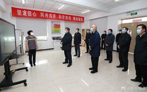 Chủ tịch Tập Cận Bình thị sát bệnh viện phòng chống corona ở Bắc Kinh - Ảnh 5.