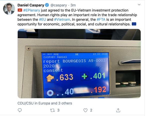 Nghị viện châu Âu thông qua Hiệp định thương mại tự do với Việt Nam - EVFTA - Ảnh 2.