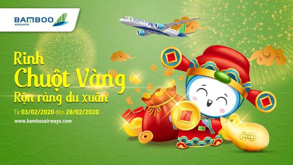 Du xuân cùng Bamboo Airways và cơ hội rinh chuột vàng đắc tài đắc lộc - Ảnh 2.