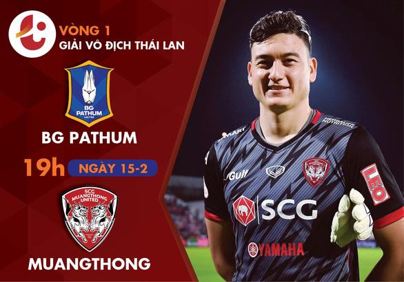 Lịch thi đấu của Văn Lâm ở ngày khai mạc Thai-League - Ảnh 1.