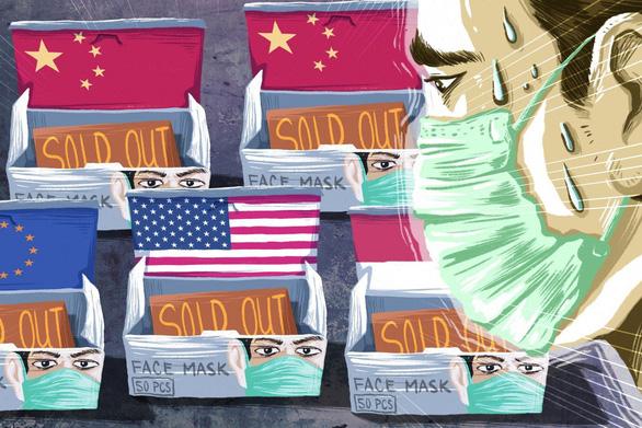 Trung Quốc thiếu khẩu trang y tế, thị trường toàn cầu thiếu theo - Ảnh 1.