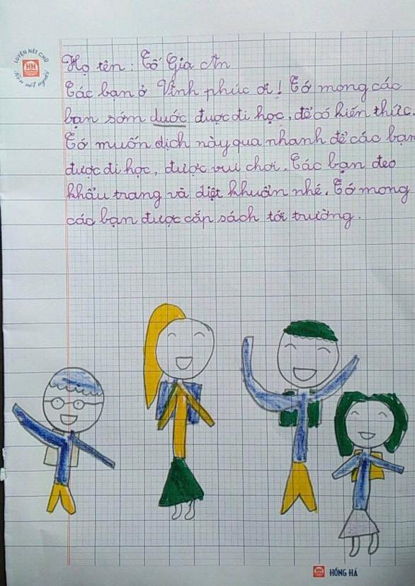 Học sinh lớp 1 Hà Nội viết thư cho các bạn ở Vĩnh Phúc: Cùng cố gắng các bạn nhé! - Ảnh 11.