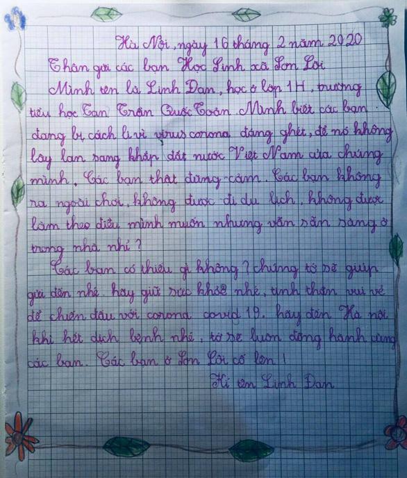 Học sinh lớp 1 Hà Nội viết thư cho các bạn ở Vĩnh Phúc: Cùng cố gắng các bạn nhé! - Ảnh 10.