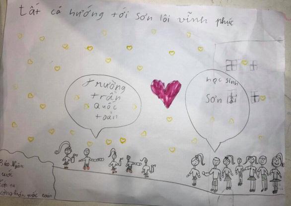 Học sinh lớp 1 Hà Nội viết thư cho các bạn ở Vĩnh Phúc: Cùng cố gắng các bạn nhé! - Ảnh 7.
