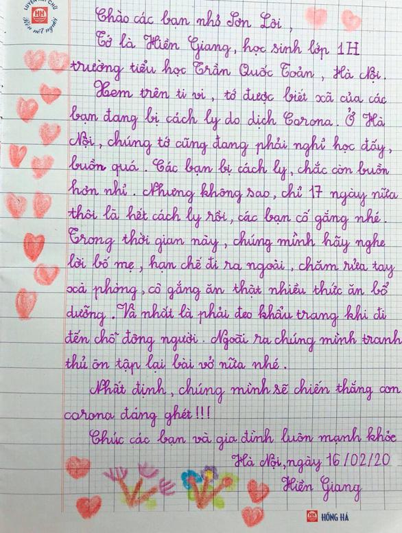 Học sinh lớp 1 Hà Nội viết thư cho các bạn ở Vĩnh Phúc: Cùng cố gắng các bạn nhé! - Ảnh 5.