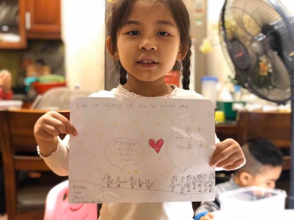 Học sinh lớp 1 Hà Nội viết thư cho các bạn ở Vĩnh Phúc: Cùng cố gắng các bạn nhé! - Ảnh 2.