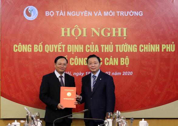 Công bố quyết định bổ nhiệm thứ trưởng Bộ Tài nguyên - môi trường - Ảnh 1.