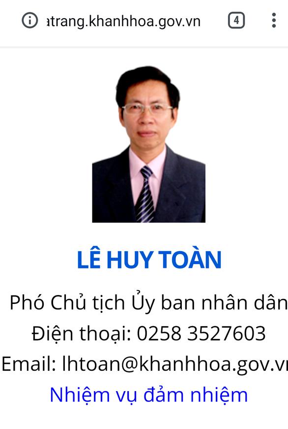 Sau khởi tố hơn 1 năm, bị can Lê Huy Toàn vẫn là phó chủ tịch UBND TP Nha Trang, vì sao? - Ảnh 1.