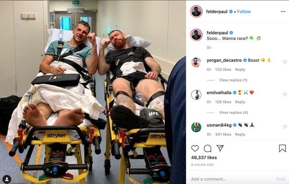 Hai võ sĩ MMA nắm tay nhau nhập viện sau khi cống hiến trận đấu cực hay - Ảnh 2.
