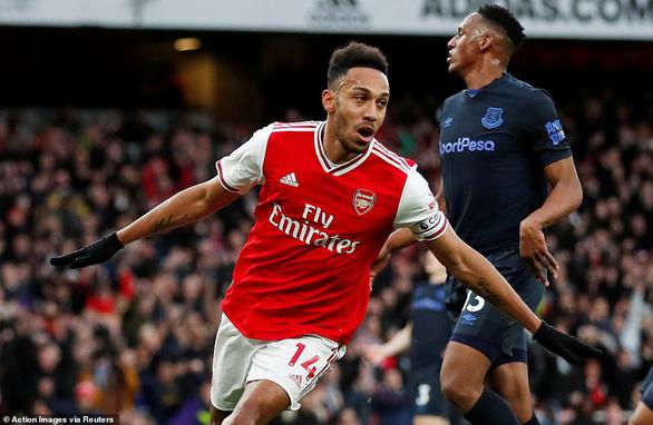 Aubameyang lập cú đúp, Arsenal thắng nghẹt thở Everton - Ảnh 3.