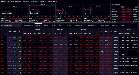 COVID-19 tiếp tục cuốn trôi gần 25 điểm VN-Index chỉ trong vài tiếng giao dịch - Ảnh 1.