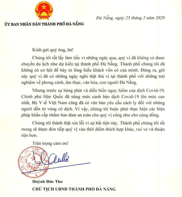 Chủ tịch Đà Nẵng xin lỗi nhóm du khách Hàn Quốc - Ảnh 2.