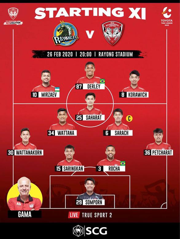 Đặng Văn Lâm bị thất sủng trong ngày đại thắng của Muangthong United - Ảnh 1.