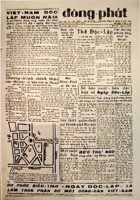 Những kỷ vật thiêng liêng - Kỳ cuối: Chiếc micro lễ đài 2-9 và tờ báo ngày Độc lập - Ảnh 3.