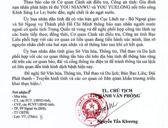 Hai người Trung Quốc tử vong ở Bạc Liêu nghi do ngạt nước - Ảnh 1.
