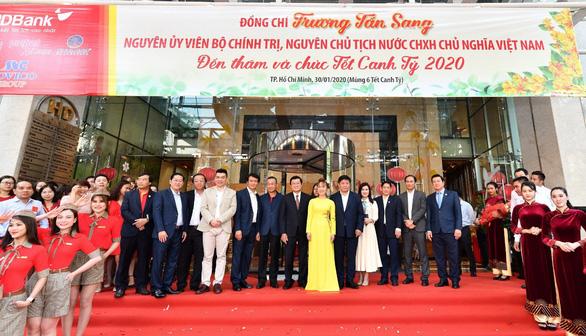 Ông Trương Tấn Sang thăm, chúc tết HDBank, Vietjet. - Ảnh 1.