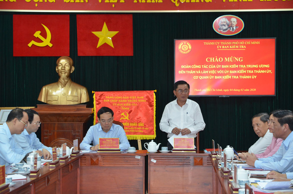 Đoàn công tác Ủy ban Kiểm tra trung ương làm việc với TP.HCM - Ảnh 1.