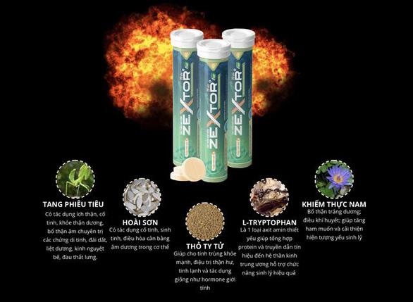 Ra mắt viên sủi hỗ trợ tăng cường sinh lực Zextor chứa Tang phiêu tiêu - Ảnh 3.