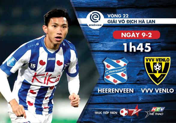 Lịch thi đấu của CLB Heerenveen, tiếp tục chờ Văn Hậu ra sân - Ảnh 1.