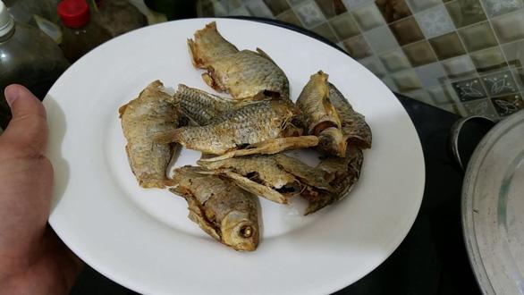 Cá diếc chiên giòn chấm mắm ớt, món bình dân biến thành hàng hiệu - Ảnh 3.