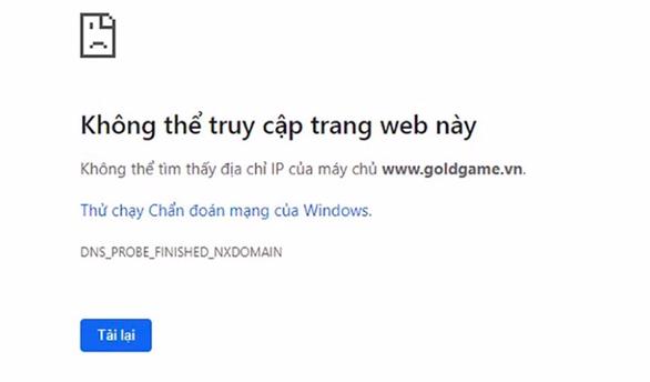 Tạm dừng 3 tên miền vì quảng cáo game online không phép - Ảnh 1.
