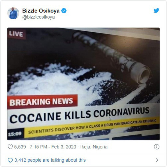 Mỹ bác bỏ tin giả hít cocaine, chất tẩy trắng, tỏi, thủ dâm chữa được corona - Ảnh 1.