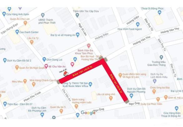 0h ngày 13-3, Bình Thuận cách ly hai tuyến đường, nơi cư trú nhiều bệnh nhân COVID-19 - Ảnh 2.