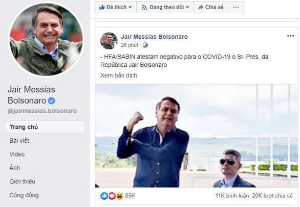 Bị truyền thông đồn dương tính, Tổng thống Brazil phản bác nhanh chóng - Ảnh 2.