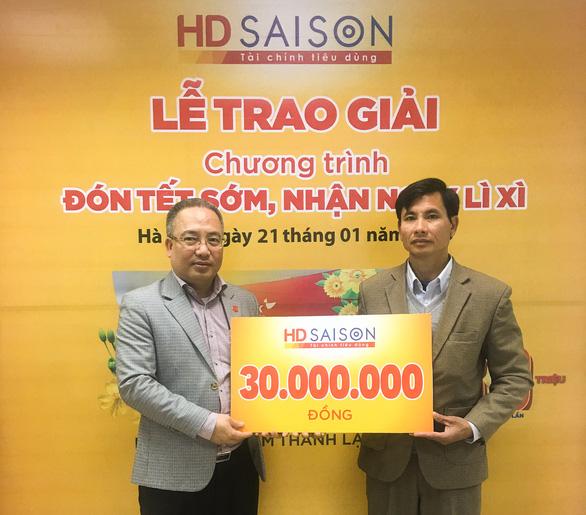 Trúng thưởng 30 triệu đồng khi vay tiêu dùng với HD SAISON - Ảnh 1.
