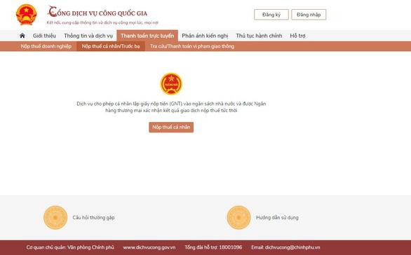 Vietcombank cung cấp dịch vụ thanh toán trực tuyến trên Cổng Dịch vụ công quốc gia - Ảnh 1.