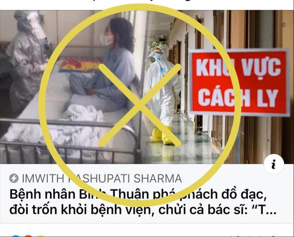 Bệnh viện Bình Thuận bác tin bệnh nhân thứ 34 siêu lây nhiễm đập phá đồ đạc - Ảnh 1.
