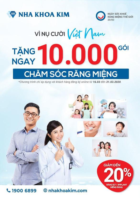 Vì nụ cười Việt Nam - Nha Khoa Kim tặng 10.000 gói chăm sóc răng miệng - Ảnh 2.