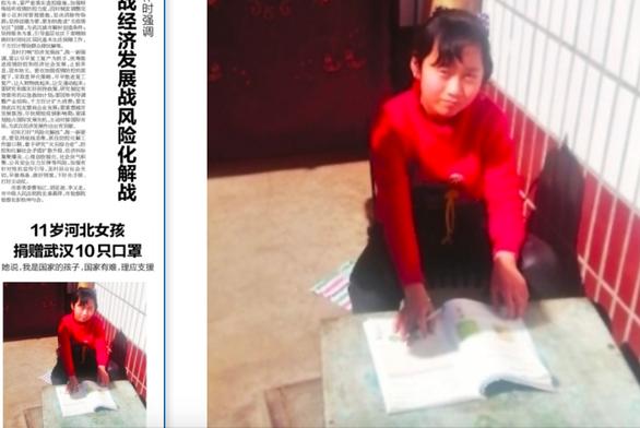 Cô bé tặng 10 chiếc khẩu trang cho Vũ Hán: Cháu là một người con của đất nước - Ảnh 1.