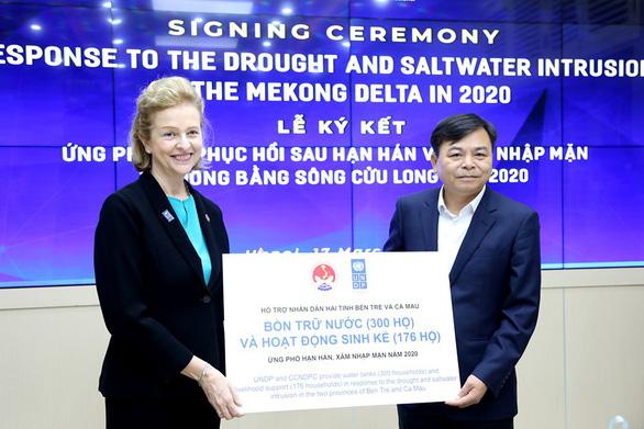 UNDP hỗ trợ dân ĐBSCL 185.000 USD chống hạn mặn - Ảnh 1.