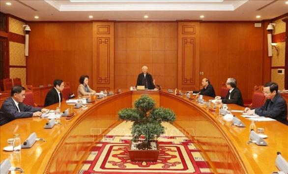 Tổng Bí thư, Chủ tịch nước Nguyễn Phú Trọng chủ trì họp Tiểu ban Nhân sự - Ảnh 1.