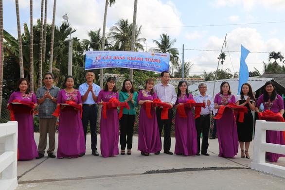 Vietbank khánh thành cầu giao thông nông thôn tại tỉnh Sóc Trăng - Ảnh 1.